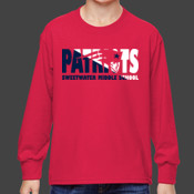 SPLIT - 4930B Fruit of the Loom Youth 5oz. 100% Heavy Cotton HD™ Long-Sleeve T-Shirt