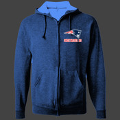 Patriots - 993B Jerzees Youth 8oz. NuBlend® 50/50 Full-Zip Hood