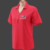 Patriot - D100W Devon & Jones Ladies' Pima Piqué Short-Sleeve Y-Collar Polo